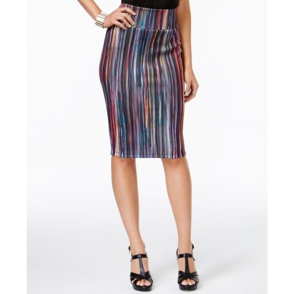 e8c9ac833b Thalia Sodi Skirts | Striped Pencil Skirt | Poshmark